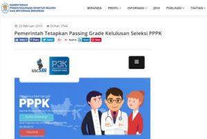 info passing grade pppk p3k